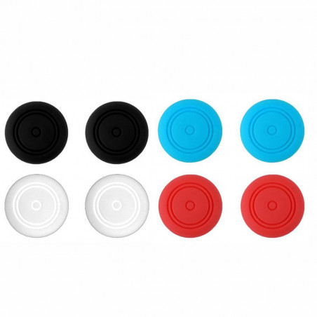 NS Switch Anti-slip Silicone ThumbStick Grips 2 x GREY Pack ( 2 x Grips Only )