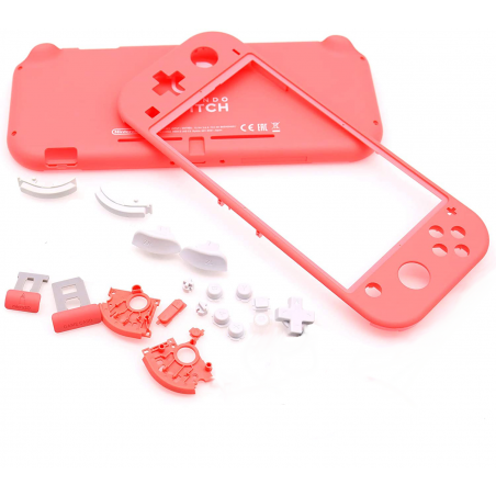 Ns Switch Lite Complete Housing Shell with Button Keys Pink