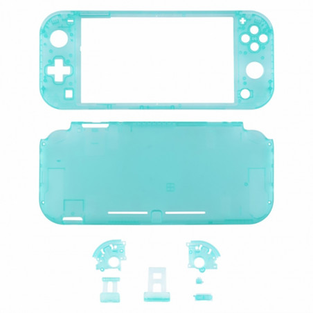 NS Switch Lite Complete Shell Kit Clear Emerald Green