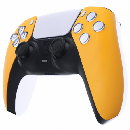 PS5 Dualsense Controller Front Shell Soft Touch Caution Yellow